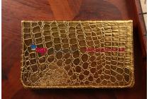 Эксклюзивный чехол обложка футляр для HTC Google Nexus 9 кожа крокодила золотой. Только в нашем магазине. Количество ограничено