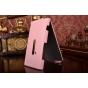 Фирменный вертикальный откидной чехол-флип для Nokia Lumia 920 розовый кожаный..