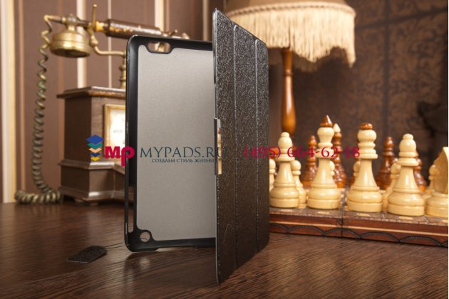 """Фирменный умный чехол самый тонкий в мире для HP cOMPAQ 8 1401 """"Il Sottile"""" черный пластиковый Италия"""