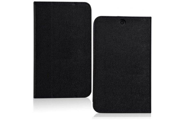Фирменный оригинальный чехол обложка с подставкой для HP Stream 7 черный кожаный