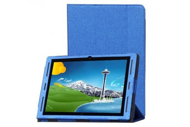 Фирменный чехол-футляр-книжка для HP x2 210 ( G1/ L5G94EA / P5U17AA / T6T52PA) 10.1 синий кожаный