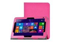 Фирменный чехол-футляр-книжка для HP ElitePad 1000 (G2) 10.1) розовый кожаный