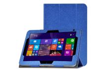 Фирменный чехол-футляр-книжка для HP ElitePad 1000 (G2) 10.1 синий кожаный
