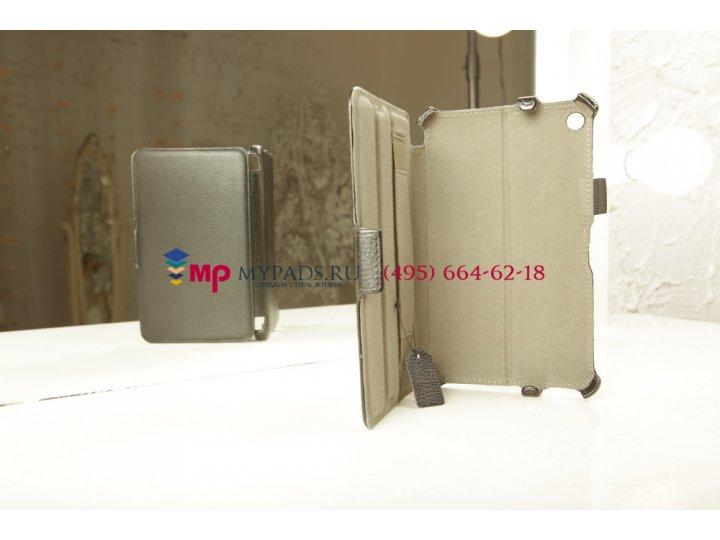 Фирменный чехол для HP Slate 7 черный кожаный