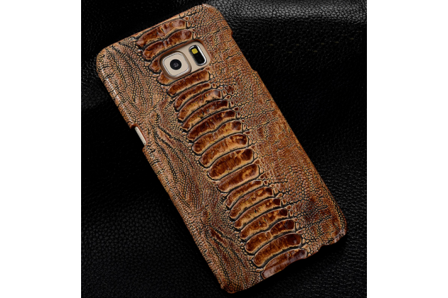 """Фирменная элегантная экзотическая задняя панель-крышка с фактурной отделкой натуральной кожи крокодила кофейного цвета для HTC One A9/HTC Aero/HTC A9w 5.0"""" . Только в нашем магазине. Количество ограничено"""