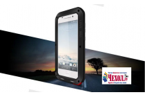"""Неубиваемый водостойкий противоударный водонепроницаемый грязестойкий влагозащитный ударопрочный фирменный чехол-бампер для HTC One A9/HTC Aero/HTC A9w 5.0"""" цельно-металлический со стеклом Gorilla Glass"""