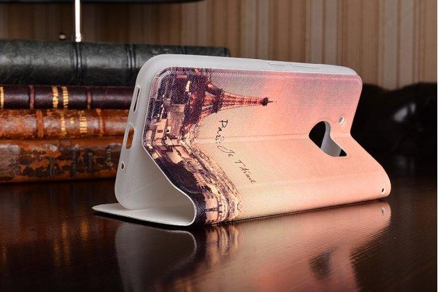 """Фирменный уникальный необычный чехол-подставка для HTC 10 / HTC One M10 / Lifestyle 10 5.2"""""""" """"тематика Париж"""" с окошком для входящих вызовов"""