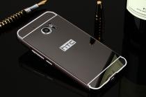 """Фирменная металлическая задняя панель-крышка-накладка из тончайшего облегченного авиационного алюминия для HTC 10 / HTC One M10 / Lifestyle 10 5.2"""" черная"""