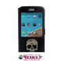 Фирменный чехол-книжка с безумно красивым расписным рисунком черепа на HTC 10 / HTC One M10 / Lifestyle 10 5.2..