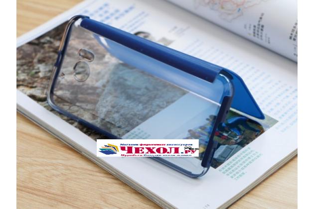 """Официальный оригинальный чехол книжка Ice View Case Book Flip Cover (IV C100) с логотипом  для HTC 10 / HTC One M10 / Lifestyle 10 5.2""""  и активной крышкой синего цвета"""