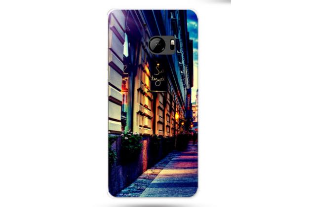 """Фирменная роскошная задняя панель-чехол-накладка из мягкого силикона с объемным  3D изображением на HTC 10 / HTC One M10 / Lifestyle 10 5.2"""" с безумно красивым рисунком  """"Тематика Ночная улица"""""""