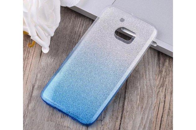 """Фирменная ультра-тонкая полимерная задняя панель-чехол-накладка из силикона для HTC 10 / HTC One M10 / Lifestyle 10 5.2""""  прозрачная с эффектом дождя"""