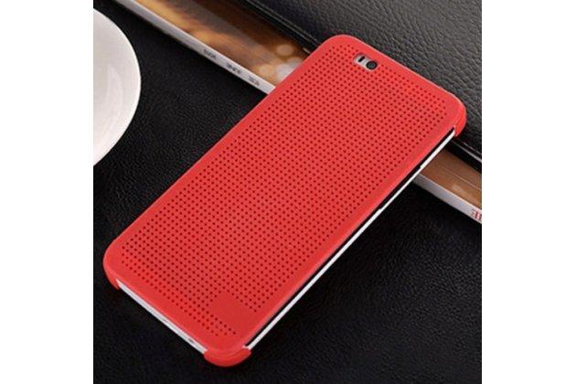 """Чехол с мультяшной 2D графикой и функцией засыпания для HTC One A9/HTC Aero/HTC A9w 5.0"""" в точечку с дырочками прорезиненный с перфорацией оранжевый"""