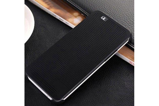 """Фирменный оригинальный официальный умный чехол Dot View flip case для HTC One A9/HTC Aero/HTC A9w 5.0"""" черный"""