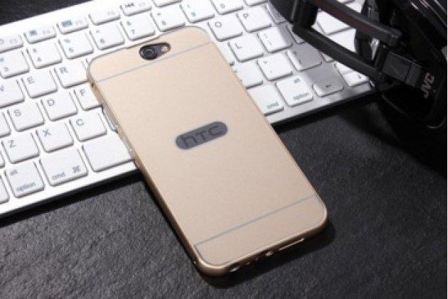 """Фирменная металлическая задняя панель-крышка-накладка из тончайшего облегченного авиационного алюминия для  HTC One A9/HTC Aero/HTC A9w 5.0"""" золотая"""