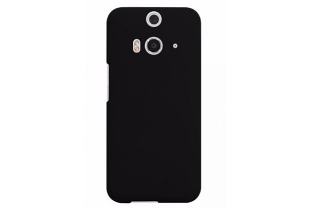 Фирменная задняя панель-крышка-накладка из тончайшего и прочного пластика для HTC Butterfly 3 черная