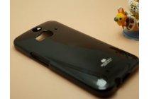 Фирменная задняя панель-крышка-накладка из тончайшего и прочного пластика для HTC Butterfly 2 черная