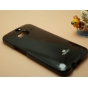 Фирменная задняя панель-крышка-накладка из тончайшего и прочного пластика для HTC Butterfly 2 черная..