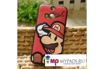 """Фирменная необычная уникальная полимерная мягкая задняя панель-чехол-накладка для HTC Butterfly 2 """"тематика Super Mario"""""""