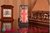 """Фирменная необычная уникальная полимерная мягкая задняя панель-чехол-накладка для HTC Butterfly 2 """"тематика Британский флаг"""""""