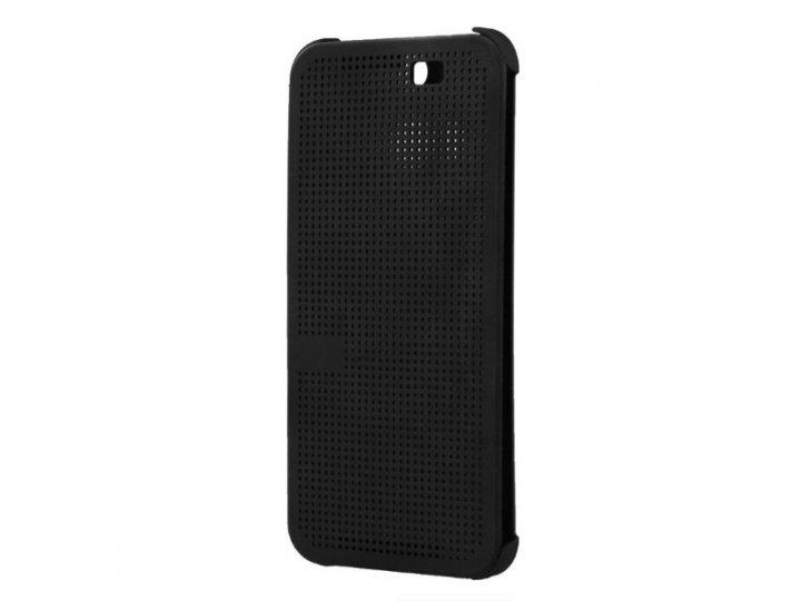 Фирменный оригинальный умный чехол Dot View flip case для HTC Butterfly 2 B810X черный..