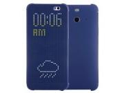 Фирменный оригинальный умный чехол Dot View flip case для HTC Butterfly 2 B810X синий..