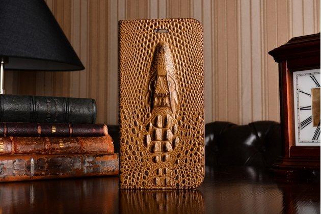 Фирменный роскошный эксклюзивная накладка с объёмным 3D изображением кожи крокодила коричневый для HTC Bolt/HTC Desire 10/ Desire 10 Lifestylle . Только в нашем магазине. Количество ограничено