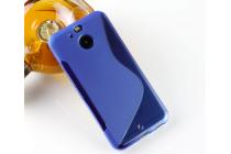 Фирменная ультра-тонкая полимерная из мягкого качественного силикона задняя панель-чехол-накладка для HTC Bolt/HTC Desire 10 синяя