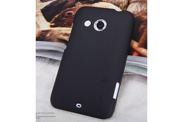 Фирменная задняя панель-крышка-накладка из тончайшего и прочного пластика для HTC Desire 200 черная