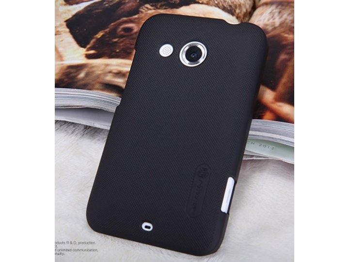 Фирменная задняя панель-крышка-накладка из тончайшего и прочного пластика для HTC Desire 200 черная..