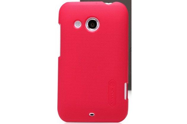 Фирменная задняя панель-крышка из тончайшего и прочного пластика для HTC Desire 200 красная
