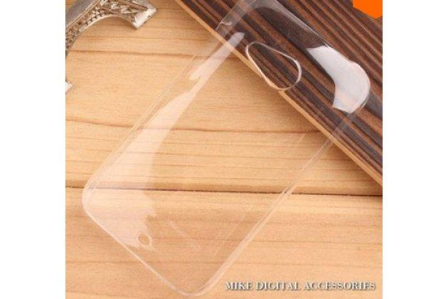 Фирменная ультра-тонкая полимерная мягкая задняя панель-чехол-накладка для ХТС Дезайр 200 прозрачная