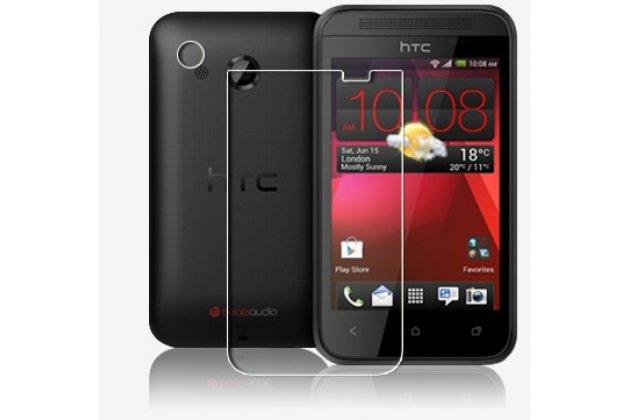 Фирменная оригинальная защитная пленка для телефона HTC Desire 200 глянцевая