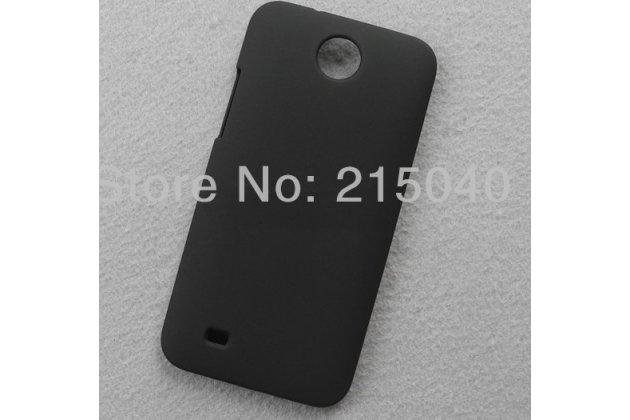 Фирменная задняя панель-крышка-накладка из тончайшего и прочного пластика на HTC Desire 300 черная