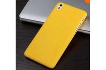 """Фирменная задняя панель-крышка-накладка из тончайшего и прочного пластика для HTC Desire 300 4.3"""" желтая"""