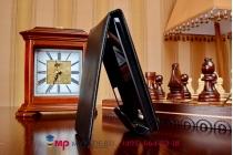 Фирменный вертикальный откидной чехол-флип для HTC Desire 300 черный кожаный