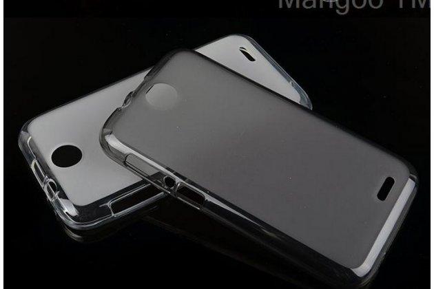 Фирменная ультра-тонкая полимерная из мягкого качественного силикона задняя панель-чехол-накладка для HTC Desire 310 Dual Sim черная