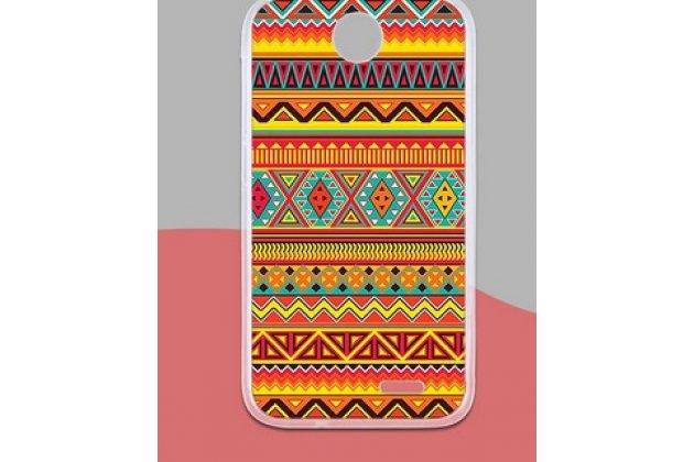 Фирменная роскошная задняя панель-чехол-накладка с безумно красивым расписным эклектичным узором на HTC Desire 310 Dual Sim