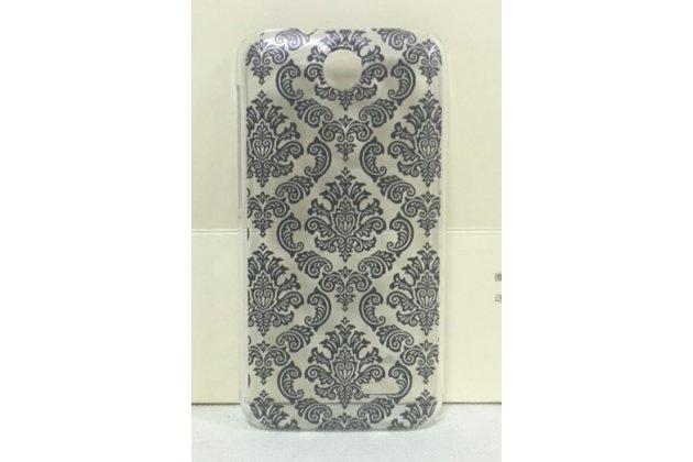 Фирменная роскошная задняя панель-чехол-накладка с расписным узором для HTC Desire 310 Dual Sim прозрачная