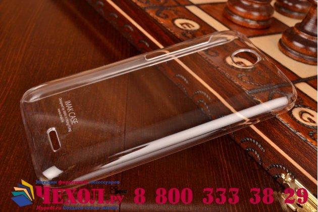 Фирменная ультра-тонкая полимерная мягкая задняя панель-чехол-накладка для HTC Desire 310 Dual Sim прозрачная