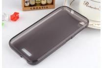 Фирменная ультра-тонкая полимерная из мягкого качественного силикона задняя панель-чехол-накладка на HTC Desire 320 черная