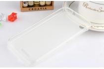 Фирменная ультра-тонкая полимерная из мягкого качественного силикона задняя панель-чехол-накладка для HTC Desire 320 белая