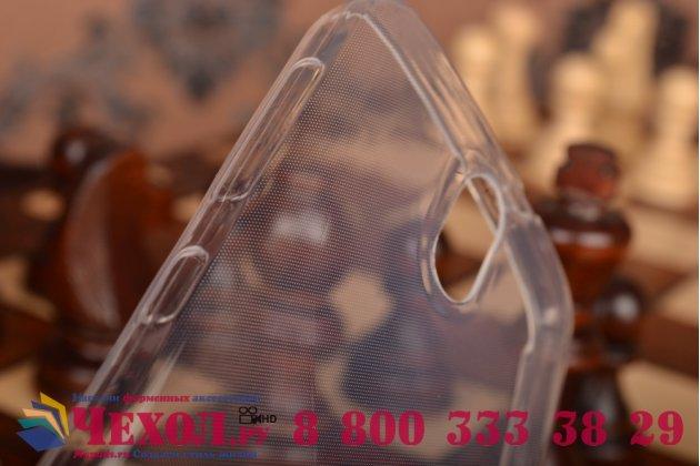 Фирменная ультра-тонкая полимерная из мягкого качественного силикона задняя панель-чехол-накладка для HTC Desire 326G Dual Sim белая