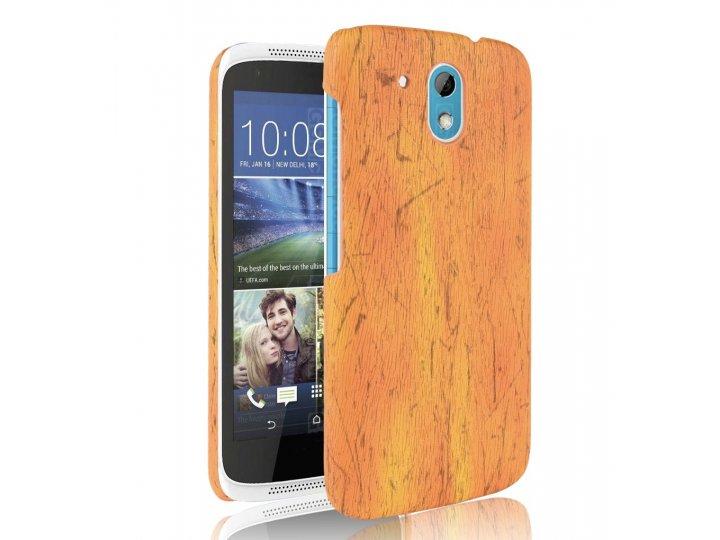 Фирменная задняя панель-крышка-накладка из тончайшего и прочного пластика для  HTC Desire 326G Dual Sim  оранж..
