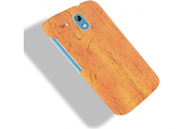 Фирменная задняя панель-крышка-накладка из тончайшего и прочного пластика для  HTC Desire 326G Dual Sim  оранжевая