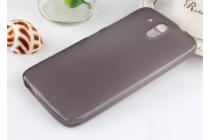 Фирменная ультра-тонкая полимерная из мягкого качественного силикона задняя панель-чехол-накладка для HTC Desire 326G Dual Sim черная
