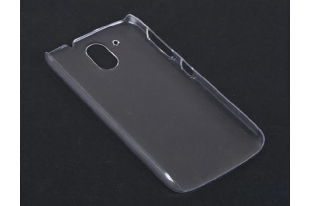 Фирменная задняя панель-крышка-накладка из тончайшего и прочного пластика для HTC Desire 326G Dual Sim прозрачная
