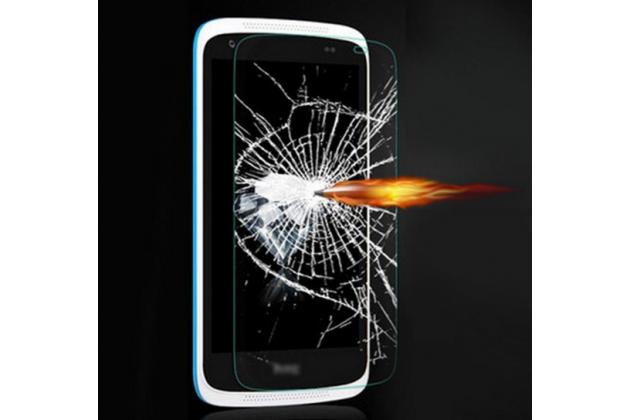 Фирменное защитное закалённое противоударное стекло премиум-класса из качественного японского материала с олеофобным покрытием для HTC Desire 326G Dual Sim