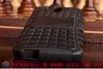 Противоударный усиленный ударопрочный фирменный чехол-бампер-пенал для HTC Desire 326G Dual Sim черный