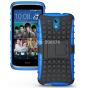 Противоударный усиленный ударопрочный фирменный чехол-бампер-пенал для HTC Desire 326G Dual Sim синий..